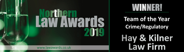 Winners - Team of the Year 2019 Crime/Regulatory Hay & Kilner Law Firm