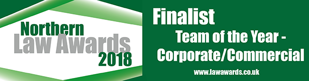 Northern Law Awards - Corporate/Commercial Team Shortlisted