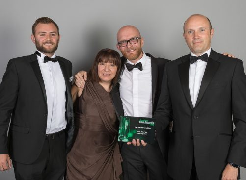 Hay & Kilner's Northern Law Awards Crime Team winners, Mark Styles, Elaine Magnani, Mark Harrison and Jonathan Waters