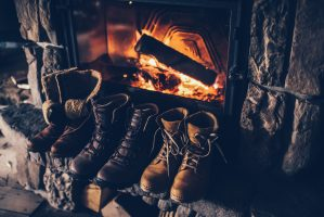 Boots in front of Fire